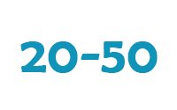 20 - 50